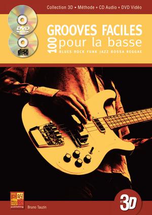100 Grooves Faciles pour la Basse, solfège et tablature
