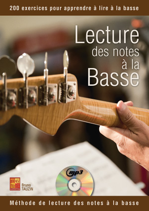 Lecture des Notes à la Basse, méthode pour apprendre à la lire la clé de fa, exercices, débutants