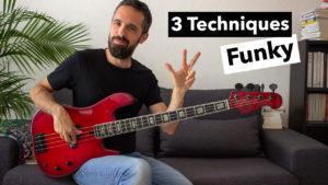 cours de basse, tablature, 3 techniques funk