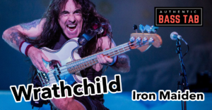 iron maiden- whrathchild, tablature, basse fender precision steve harris