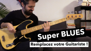 cours de basse, blues, tablature