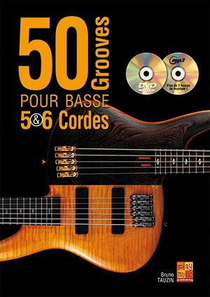 50 Grooves pour basse 5 et 6 cordes, solfège et tablature, vidéo, playbacks
