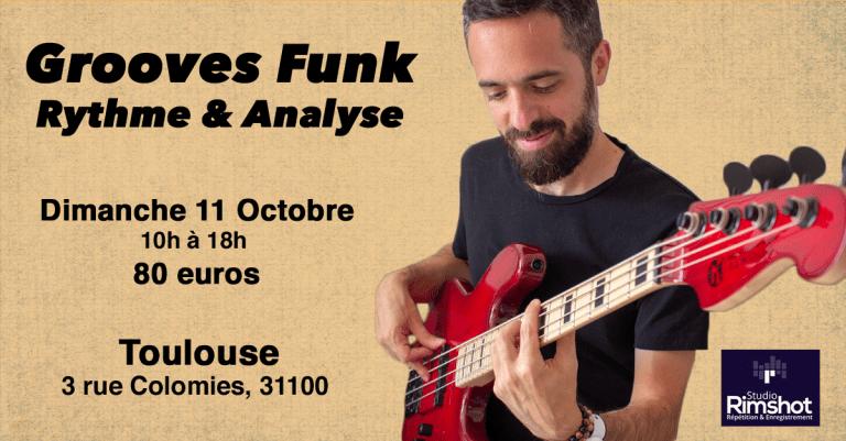 Masterclass grooves funk à Toulouse