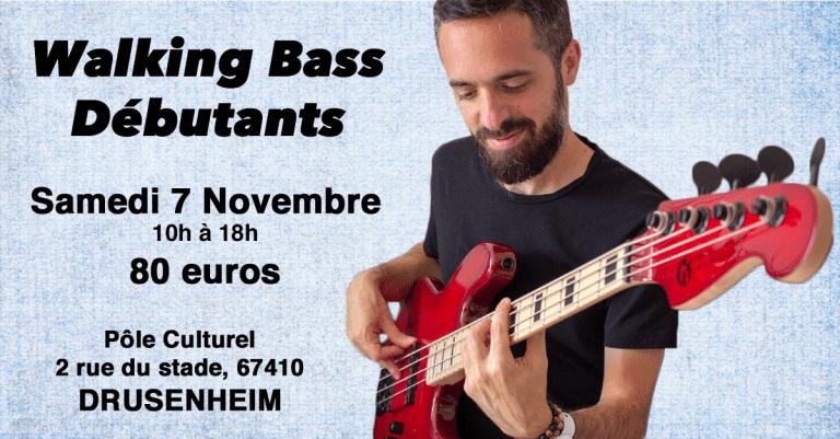 Masterclass walking bass débutants à Drusenheim
