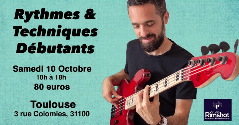 Masterclass rythmes et techniques débutants Toulouse