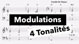Cours d'harmonie, modulations, basse, theorie, solfege, accords