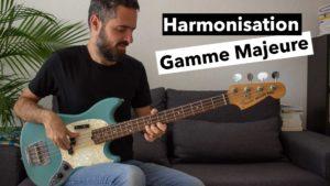 cours de basse, harmonisation gamme majeure, solfege, harmonie