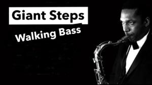 cours de basse jazz, walking bass giant steps, john coltrane, tablature