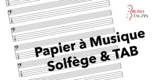 papier à musique vierge, pour basse 4 cordes, 5 cordes, 6 cordes, portée, tablature
