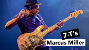 cours basse, slap, marcus miller, 7-t's, tablature