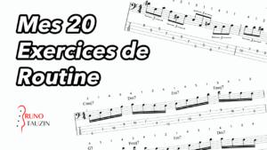 20 exercices de routines, basse, bassiste, débutant, technique, tablature