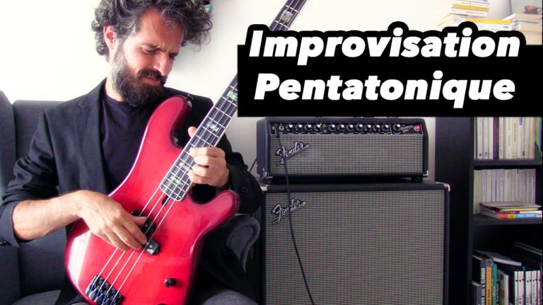 cours de basse, improviser facilement avec les gammes pentatonique, tablature