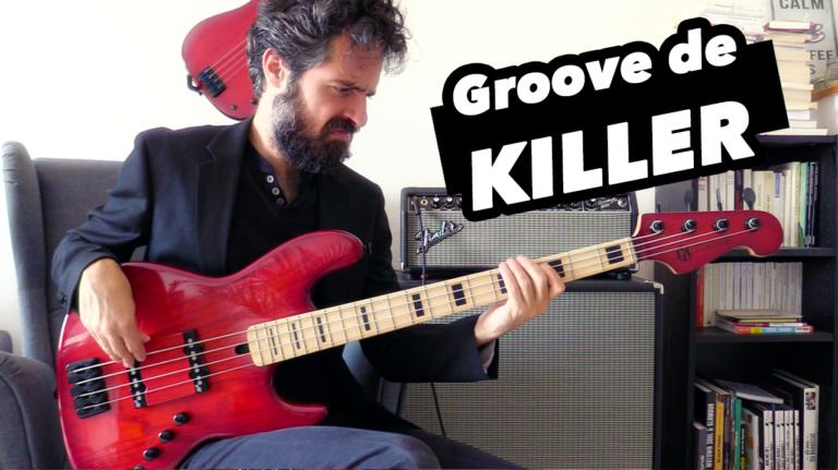 cours de basse, groove funky en drop D, tablature