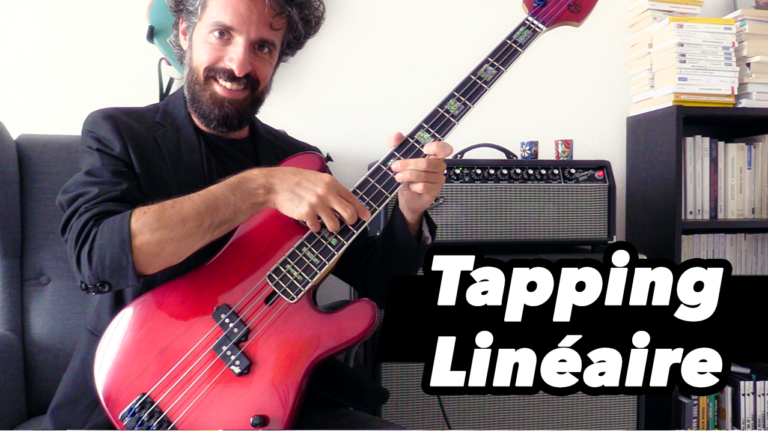 cours de basse, tapping, debutant, tablature
