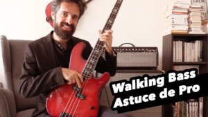 cours de basse jazz, walking bass, tablature