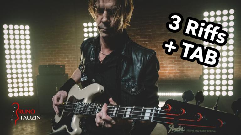 Duff McKagan, velvet revolver, guns 'n' roses, fender precision, tablature, rock, cours, tuto