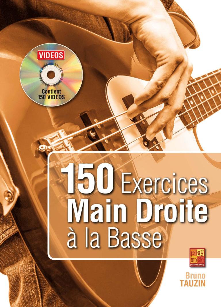 Méthode de basse, technique, débutant, 150 exercices main droite, tablature