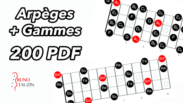 gamme, arpege, basse, bassiste, cours, schéma, pdf, solfège, théorie